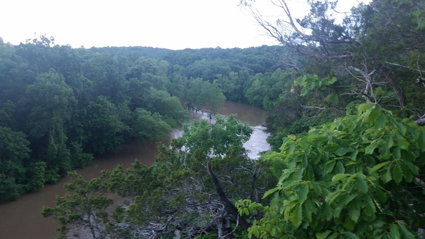 View of Meramec River from Bluffs on Deer Run Trail
